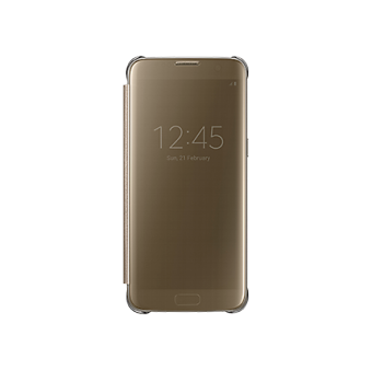 Samsung A7 2017 Clear View Cover Gold