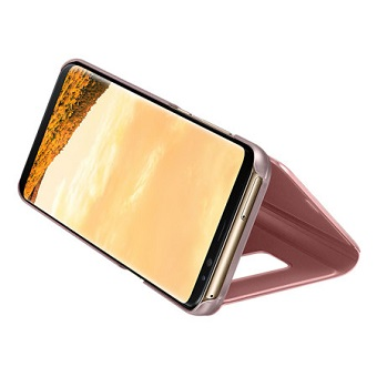 Samsung S8 Plus Clear View Standing Cover Pink