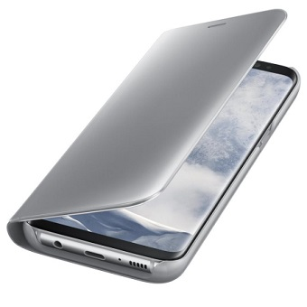 Samsung S8 Clear View Standing Cover Silver